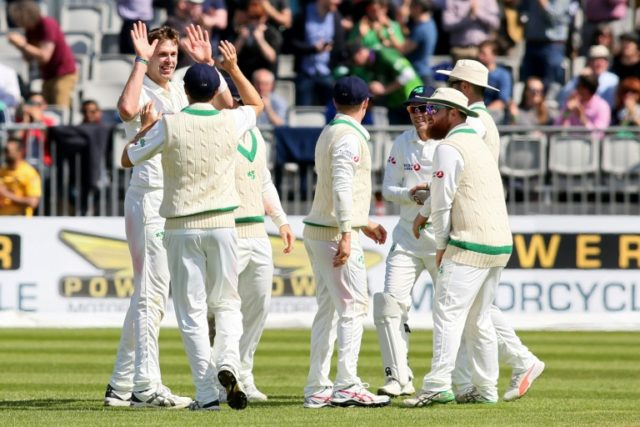 Ireland claimed six wickets before tea but were later pegged back on their first day of Test cricket