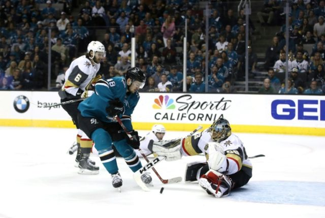 How far the Vegas Golden Knights will go depends largely on the play of goalie Marc-Andre Fleury (R), a three-time Stanley Cup winner with Pittsburgh