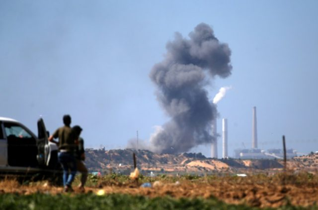 Israel said it targeted a Hamas facility in the Gaza Strip