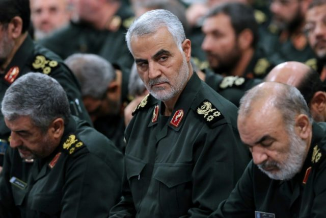 Iran Revolutionary Guards commander Qassem Soleimani attends a meeting in Tehran in this file handout picture released on September 18, 2016