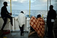 Migrants on board rescue ship MV Aquarius headed for Sicily after dozens were picked up on May 12 by NGO vessels who fear Italian political changes could put even more people at risk