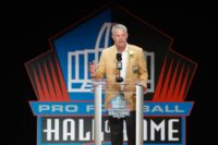 Brett Favre, pictured during his induction to the NFL Hall of Fame in 2016, said he went to rehap twice to address problems with alcohol