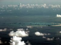Reclamation by China on Mischief Reef in the Spratly Islands in 2015