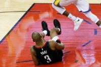 Paul suffered the hamstring injury in the final seconds of Houston's 98-94 home victory in game five Thursday