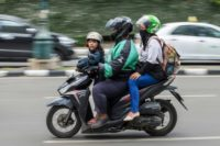 Go-Jek operates a fleet of motorcycle taxis, private cars and other services, from massage and house cleaning to grocery shopping and food delivery