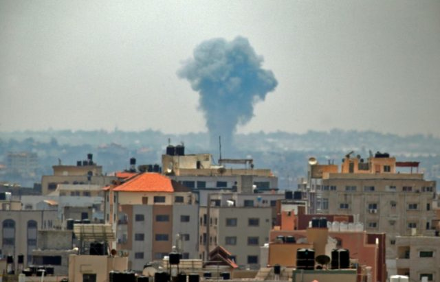 There were no immediate reports of injuries in Tuesday's strikes on Gaza