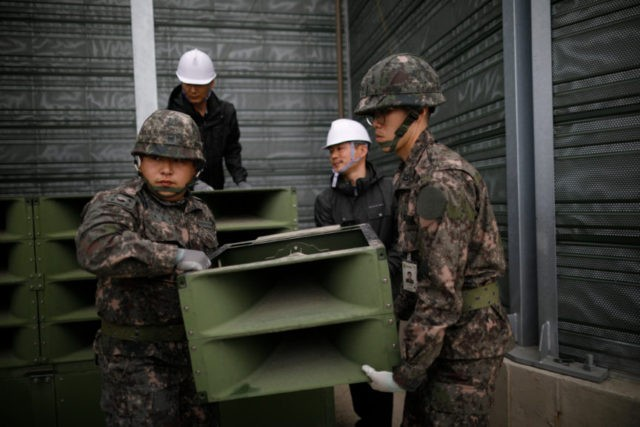 2 Koreas dismantle propaganda loudspeakers at tense border