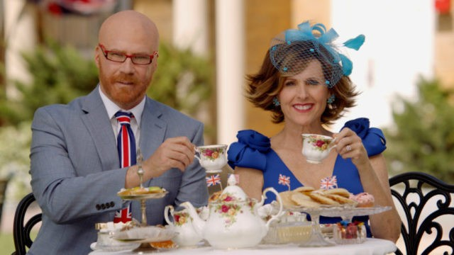 Will Ferrell, Molly Shannon team up to cover royal wedding