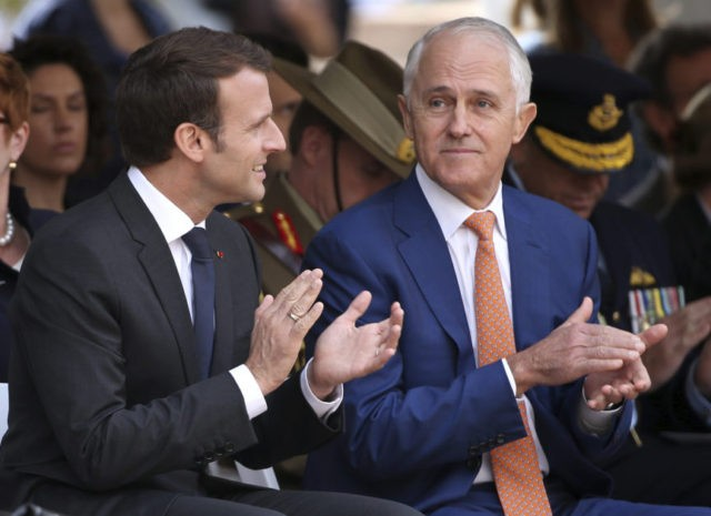 Emmanuel Macron, Malcolm Turnbull