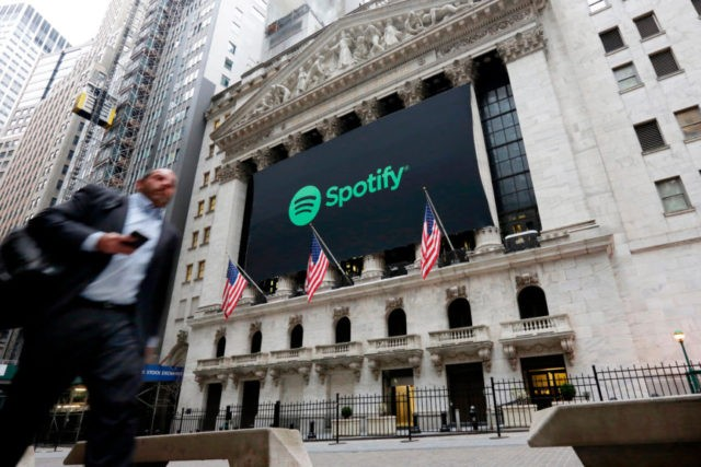 Spotify's 1st report as public company flops on Wall Street
