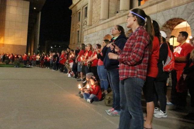 The Latest: Arizona teachers hold vigil as lawmakers debate