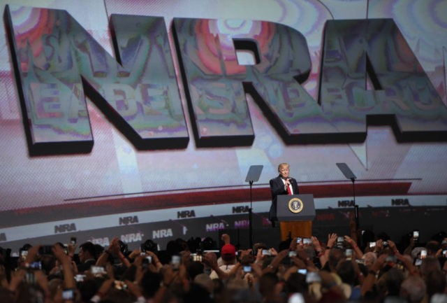 Trump's NRA address comes after zigzag on gun-control policy