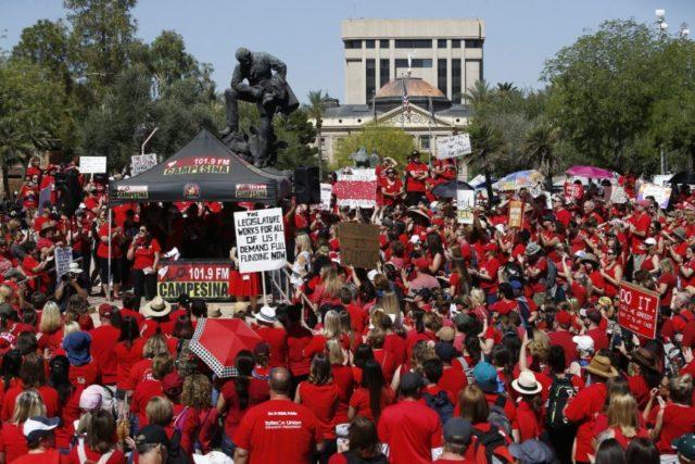 Striking Arizona teachers win 20 percent raise, end walkout