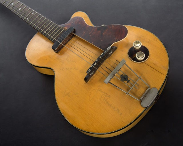 George Harrison's first electric guitar up for auction