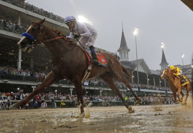 Justify wins sloppy Kentucky Derby, Baffert gets 5th title