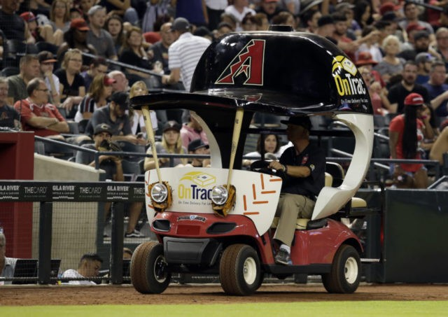 Slow ride: D-backs bullpen cart finally used in 18th game