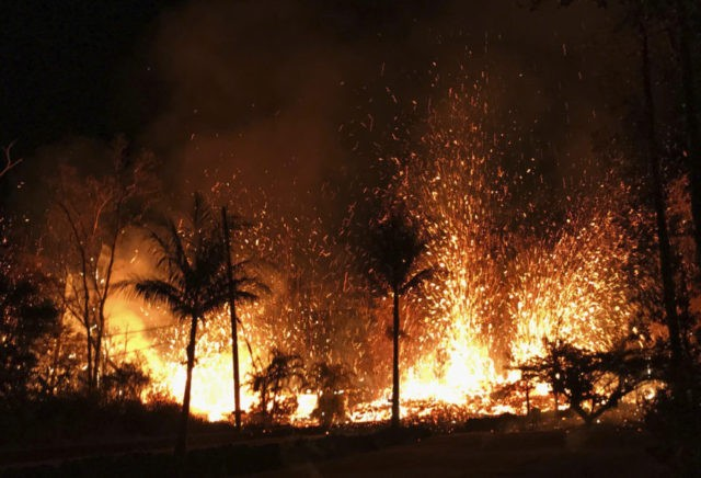 The Latest: New fissure triggers 230-feet 'lava fountains'