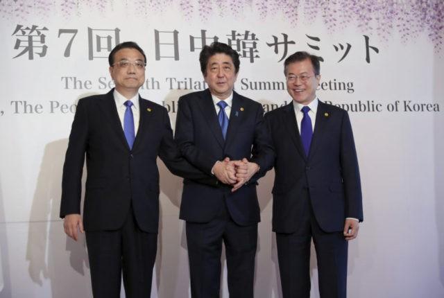 Li Keqiang, Shinzo Abe, Moon Jae-in