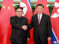 In this May 7, 2018, photo provided by the North Korean government, North Korean leader Kim Jong Un, left, meets Chinese President Xi Jinping in Dalian, China. Independent journalists were not given access to cover the event depicted in this image distributed by the North Korean government. The content of …