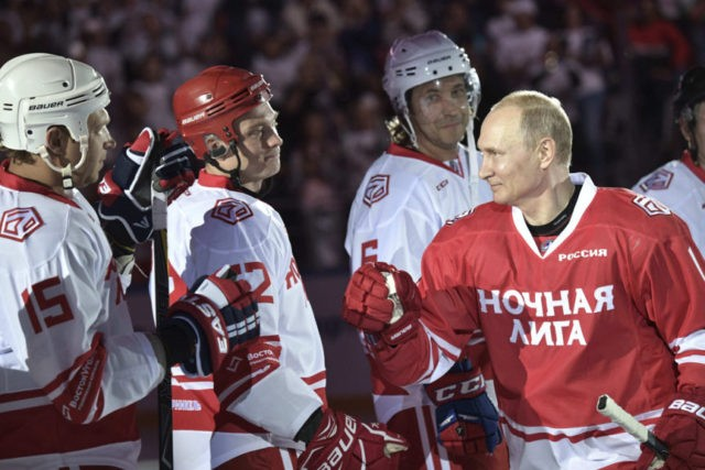 Putin scores 5 goals in exhibition hockey game