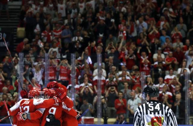 Denmark blanks Norway, France tops Austria at world hockey
