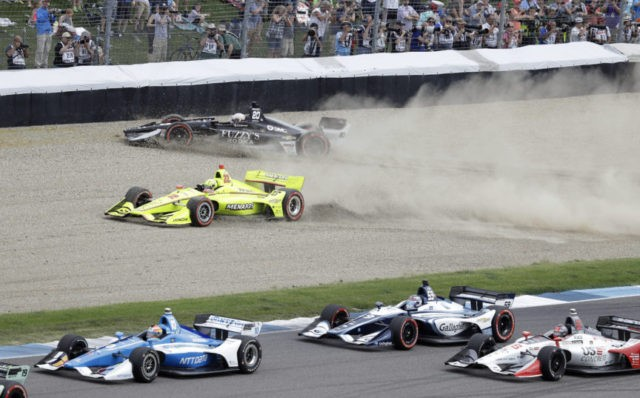 The Latest: Wickens builds big lead at IndyCar Grand Prix