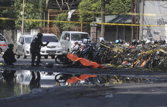 The Latest: Indonesia says church bombers from 1 family