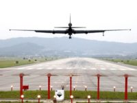A U.S. Air Force U-2 spy plane prepares to land as South Korea and the United States conduct the Max Thunder joint military exercise at the Osan U.S. Air Base in Pyeongtaek, South Korea, Wednesday, May 16, 2018. North Korea on Wednesday canceled a high-level meeting with South Korea and …