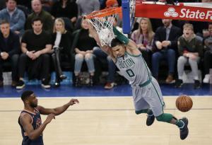 Jayson Tatum turns from fan to foe in LeBron James battle