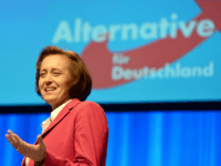 STUTTGART, GERMANY - APRIL 30: Alternative fuer Deutschland (AfD) co-deputy head Beatrix von Storch pictured at the party's federal congress on April 30, 2016 in Stuttgart, Germany. The AfD, a relative newcomer to the German political landscape, has emerged from Euro-sceptic conservatism towards a more right-wing leaning appeal based in …