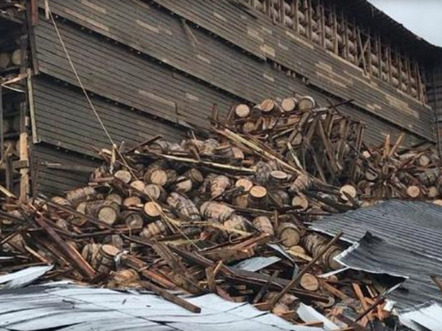 A Kentucky building housing thousands of barrels of aged bourbon collapsed on Friday, sending 9,000 barrels of the liquor crashing to the ground.