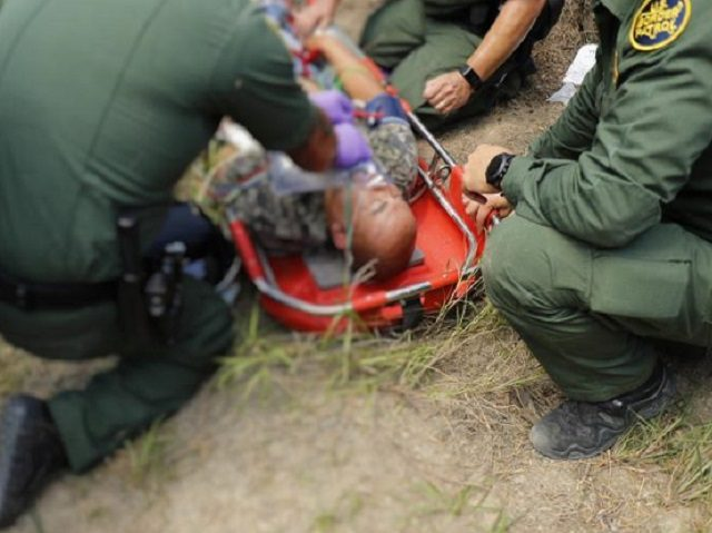 Border Patrol Agents Rescue Distressed Migrant near Falfurrias