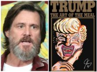 Jim Carrey Art Shows Grotesque Trump 'Devour Immigrant Children'