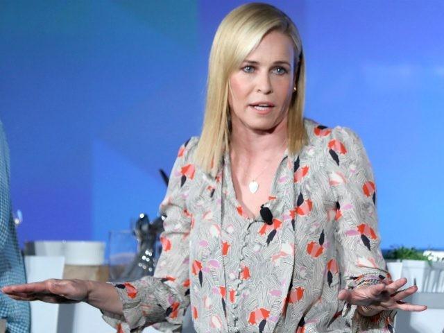 Chelsea Handler speaks onstage at the Chelsea Handler and Chef Jose Andres Heat Up The Kitchen panel during the 2017 Vulture Festival at Milk Studios on May 21, 2017 in New York City. (Photo by Cindy Ord/Getty Images for Vulture Festival)