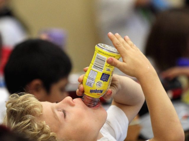 Child chocolate milk (Justin Sullivan / Getty)