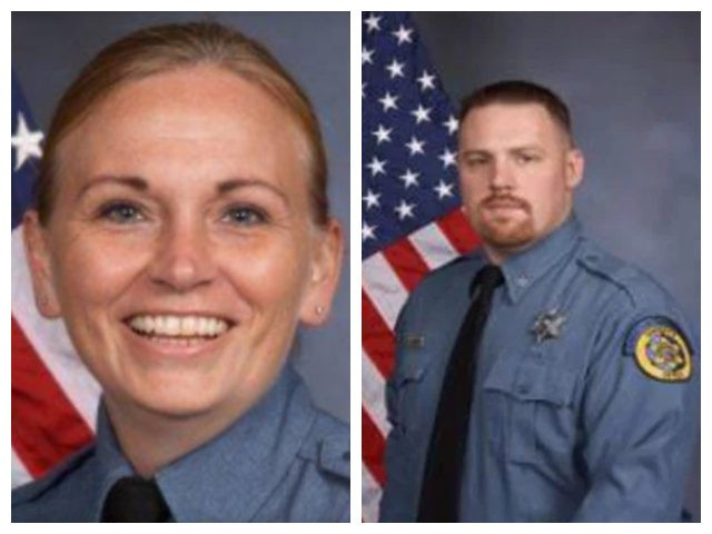 Collage of Deputies Theresa King and Patrick Rohrer killed following shooting