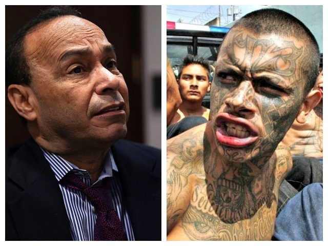 Collage of Luis Gutierrez and MS-13 gang member