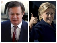 Collage of Paul Manafort and Hillary Clinton