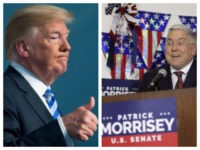 Collage of Trump and Patrick Morrisey