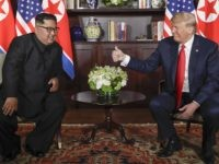 Donald Trump gives Kim Jong-un thumbs up (Evan Vucci / Associated Press)
