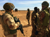Malian soldiers taking part in the 'Hawbi' tactical coordination operation and soldiers of the France's Barkhane mission patrol on November 2, 2017 in central Mali, in the border zone with Burkina Faso and Niger as a joint anti-jihadist force linking countries in the Sahel began operations on November 1. The …