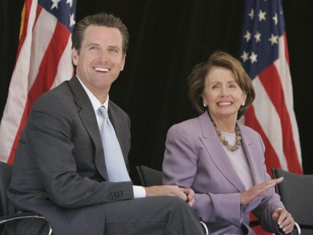 Gavin Newsom and Nancy Pelosi (Paul Sakuma / Associated Press)