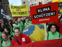 BONN, GERMANY - NOVEMBER 04: Climate change activists march to demonstrate against coal energy and other climate-related issues on November 4, 2017 in Bonn, Germany. The march, organized by over a dozen environmental activist groups, takes place two days before the COP 23 United Nations climate conference due to begin …