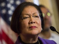 WASHINGTON, DC - DECEMBER 10: Sen. Mazie Hirono (D-HI) listens to a question during a news conference to discuss U.S. President Barack Obama's executive order on immigration, on Capitol Hill, December 10, 2014 in Washington, DC. President Obama traveled to Nashville, Tennessee on Tuesday, where he defended his actions on …