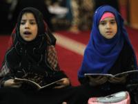 Iraqi girls attend a Koran reading class at the Sheikh Abdul Qadir al-jailani mosque in central Baghdad on June 13, 2016 during the Muslim holy fasting month of Ramadan. / AFP PHOTO / AHMAD AL-RUBAYE (Photo credit should read AHMAD AL-RUBAYE/AFP/Getty Images)