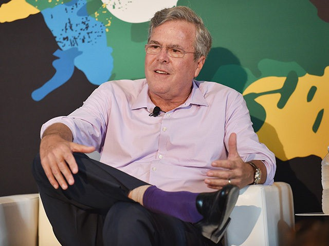 NEW YORK, NY - JULY 22: Jeb Bush speaks onstage during OZY FEST 2017 Presented By OZY.com at Rumsey Playfield on July 22, 2017 in New York City. (Photo by Bryan Bedder/Getty Images for Ozy Fusion Fest 2017)