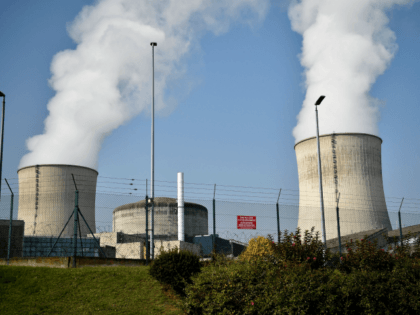 This general view shows the chimmneys of the nuclear power plant at Cattenom in eastern France on October 17, 2017. / AFP PHOTO / JEAN-CHRISTOPHE VERHAEGEN (Photo credit should read JEAN-CHRISTOPHE VERHAEGEN/AFP/Getty Images)