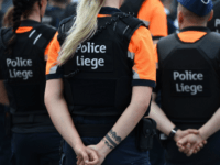 Liege police take part in a tribute ceremony for the vicitms of a shooting in Liege on May 30, 2018. - An attack that killed two policewomen and a male bystander in the eastern Belgian city of Liege on May 29, 2018 amount to 'terrorist murder,' prosecutors spokesman said during …