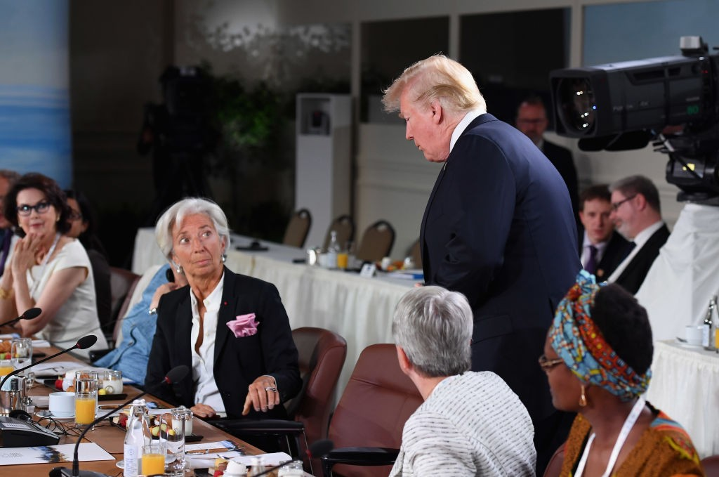 Trump attends G-7 gender equality breakfast