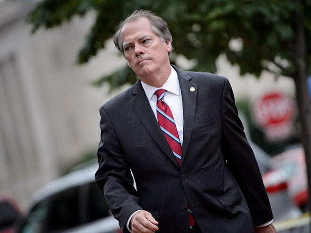 James Wolfe, former director of security for the Senate Intelligence Committee, walks into the FBI Washington Field Office June 11, 2018 in Washington, DC. (Photo by Brendan Smialowski / AFP) (Photo credit should read BRENDAN SMIALOWSKI/AFP/Getty Images)